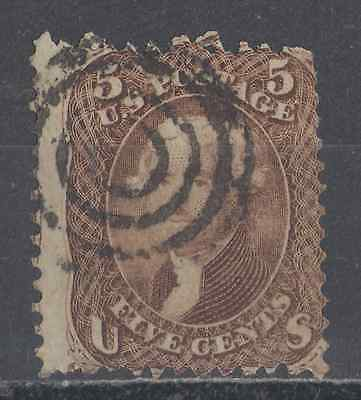 Us  Used  #76  5-Cent Brown