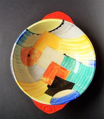 Gray's Pottery Bowl Cubist Pattern (Susie Cooper) 21cms.Dia.