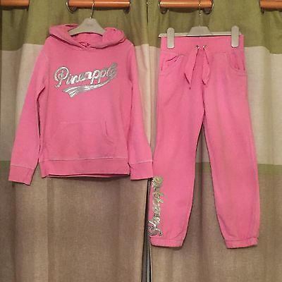 Girls Age 7 8 Pink Pineapple Tracksuit send Next Day