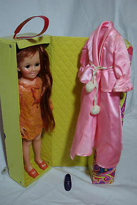 IDEAL Velvet CHRISSY DOLL, COMPLETE OUTFIT, CASE, and Robe