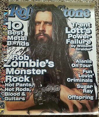 1999 Rob Zombie Rolling Stone COVER PROMO POSTER autographed WHITE ZOMBIE signed