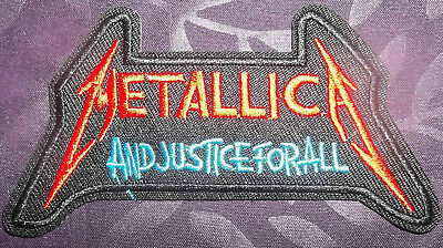 Metallica Patch...and Justice For All Embroidered Heavy Metal Thrash 80's Diy