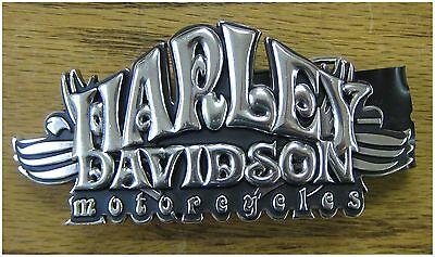 "Harley-Davidson New Ladies Chrome  Belt Buckle Script 5"" by 2-1/4"""