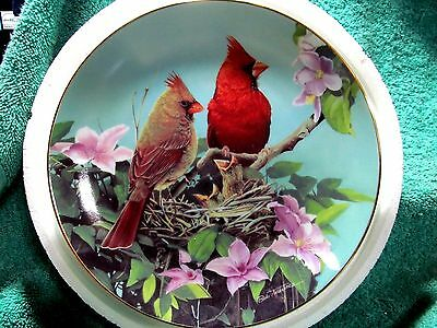 Cardinals for all Seasons New Arrivals Plate by Bob Travers and The Danbury Mint