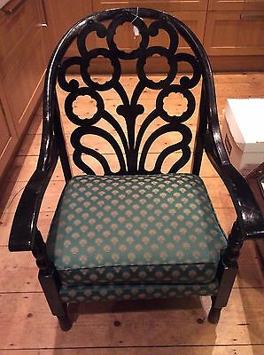 Beautiful Art deco ebonised chair