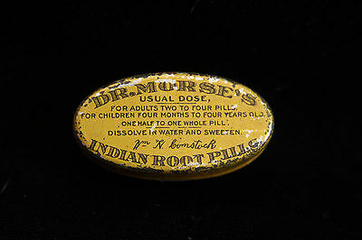 Rare Vintage Tin - Doctor Morse Indian Root Pills w 4 Remaining - Blood Cleanser