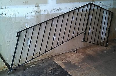 Set Of 2 Vintage Cast Iron Metal Hand Rails From Old Hosiery Mill Was $599