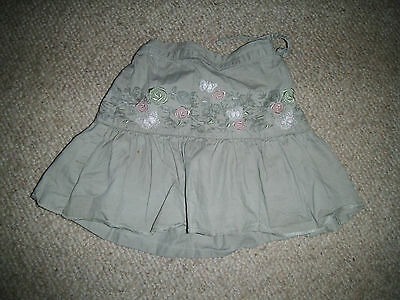 Girls George khaki/green skirt age 4-5 good condition