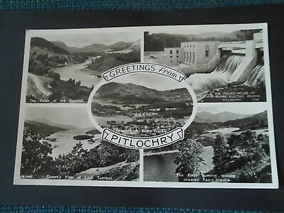 Old Greetings Postcard Of Greetings From Pitlochry