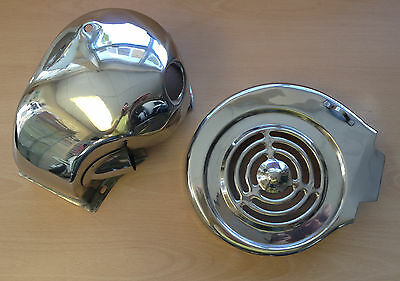 Lambretta Li-Sx-Tv Stainless Steel Engine Cowl Set - Cylinder Cowling Set New