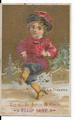 C. L. Jones & Co. Tulip Soap Victorian Trade Card