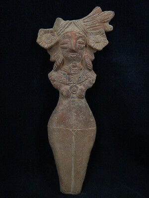 Ancient Large Size Teracotta Mother Goddess Indus Valley 600 BC NO RESERVE #T724