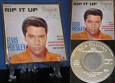 """Elvis """"RIP IT UP"""" EPA 30-091 Italy only May-1964 EP w/original Inner"""