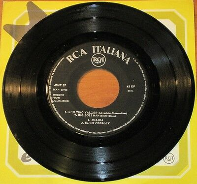 """Elvis strong VG+ PROMO / DJ ONLY Italy RCA VV.AA. EP """"Big Boss Man"""" from 1967"""