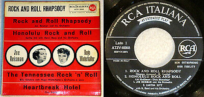 """Elvis 1st press Oct-56 """"Rock And Roll Rhapsody"""" Italy EP STRONG VG+ COPY"""