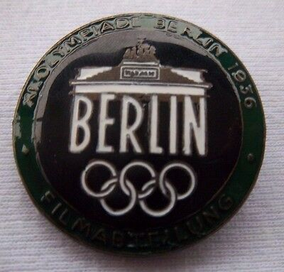 Orig.Pin  Olympic Games BERLIN 1936  -  FILMABTEILUNG / FILM - GREEN  !!  RARITY