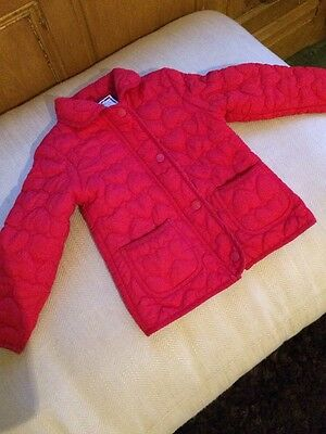 Girls Red Jacket Age 4-5
