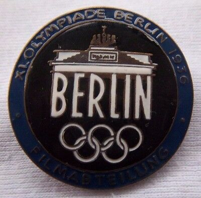 Orig.Pin  Olympic Games BERLIN 1936  -  FILMABTEILUNG / FILM - BLUE  !!  RARITY