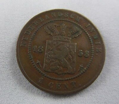 Netherlands East Indies  1858 1 CENT KM#307.2