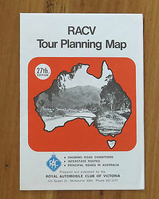Vintage RACV Touring Map of Australia 27th Edition
