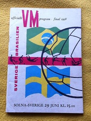1958 World Cup Final Programme. **Stunning**