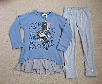 BNWT iDo Girls 2 Piece Outfit leggings and Top Autumn Winter age 6 years New
