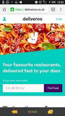 Deliveroo code - carolynm6690 - no payment required.  £5 off discount promo