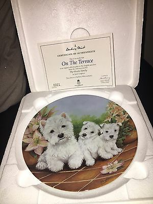 Royal Worcester - The Westie Family Set Of 12 Plates With Coa And Boxed. Rare