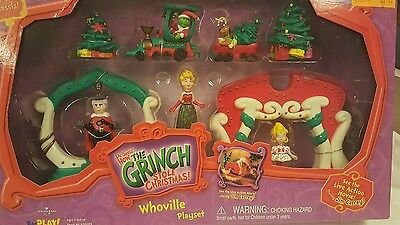 Grinch Whoville Playset Train Christmas Action Figure Dr. Suess