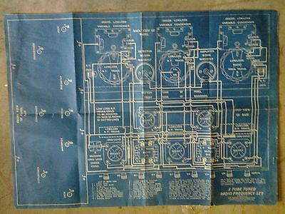 Vintage 5 Tube Tuned Radio Frequency Set Diagram Unknown