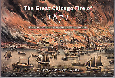 GREAT CHICAGO FIRE OF 1871.... A book of postcards