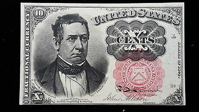 1874-76 United States 10 Cents Series L 5th Issue Fr-1265 Fractional Currency #3
