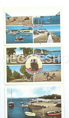 Hampshire: Southsea: Hayling Island 6 Views Vintage Lettercard