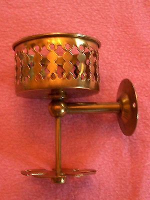 Antique brass cup and toothbrush holder