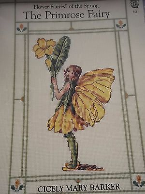 Cicely May Barker Flower Fairies..primrose Fairy Cross Stitch Chart