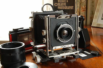 Ebony SW23 View Camera with 100mm Componon-S 5.6 Lens & Accessories