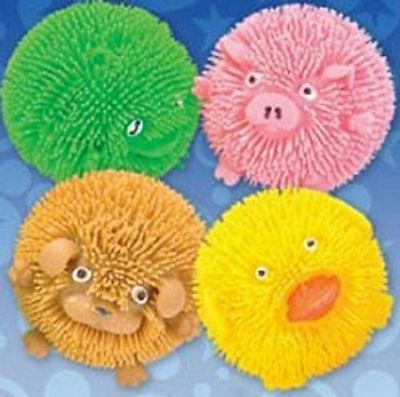 4 Squishy Farm Critters Light Up Flashing puffer duck pig dog Animalsl autism