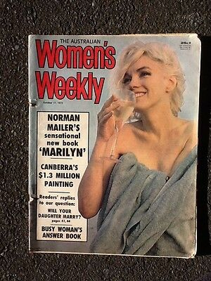 Marilyn Monroe Front Cover / Article Australian Women's Weekly Oct 17,1973.