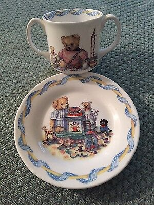 Queen's Fine Bone China Cup and Plate Christening Set