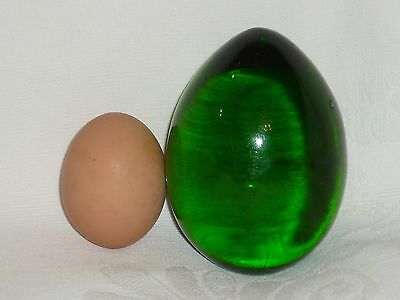 Big Easter Egg. Green glass, the end of the 19th century. Russian empire