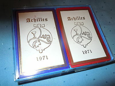 1971 VINTAGE NEW ORLEANS MARDI GRAS KREWE of ACHILLES BALL FAVOR PLAYING CARDS