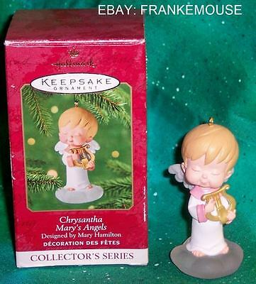 New Retired Hallmark Mary's Angels Chrysantha 14Th In Series Ornament 2001
