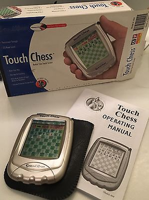 Excalibur Touch Chess Hand Held Pocket Size Digital Game w/Case Stylus Manual