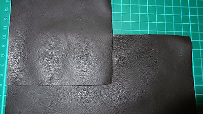 Black 100% Leather Remnant Repair Patches / Trimmings 4 Sizes To Choose From