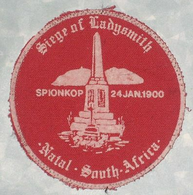 """Siege of Ladysmith Patch - Natal South Africa - 2 5/8"""" x 2 5/8""""  - 1900"""