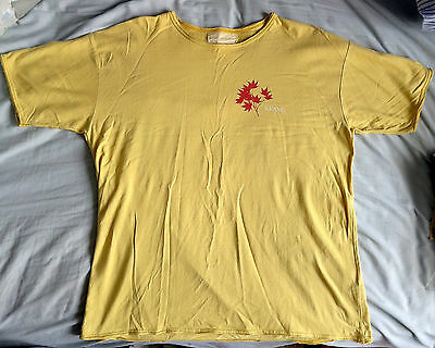 Keane - Rare Yellow T-Shirt with Red Leaf (Somewhere Only We Know) Small/Medium