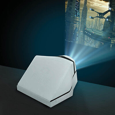 Smartphone Projector White Home Cinema Mobile Phone TV Screen Video Movie Gift