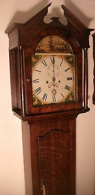 "Antique Oak "" Truro ""  8 Day  Longcase /grandfather Clock"