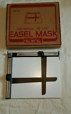 "LPL darkroom easel mask boxed great condition 10"" x 12""   26 x 30 cm"