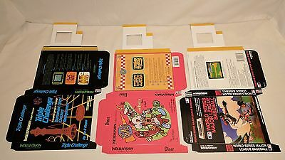 NEW Lot of 12 Reproduction Boxes for Intellivision Game, Spiker, Learning Fun+++